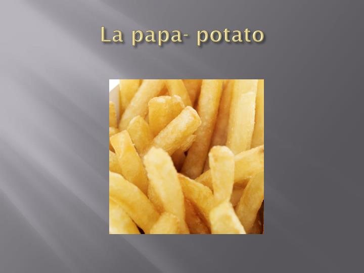 La papa- potato