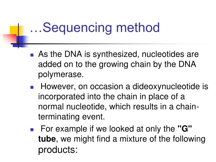 …Sequencing method