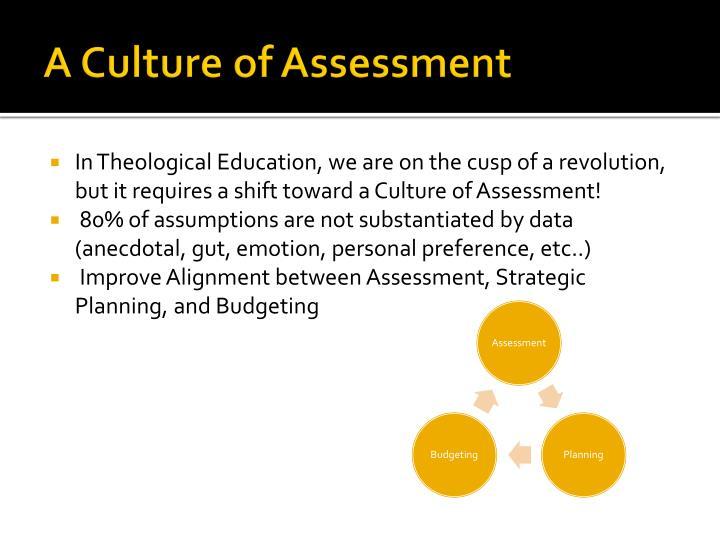 A Culture of Assessment