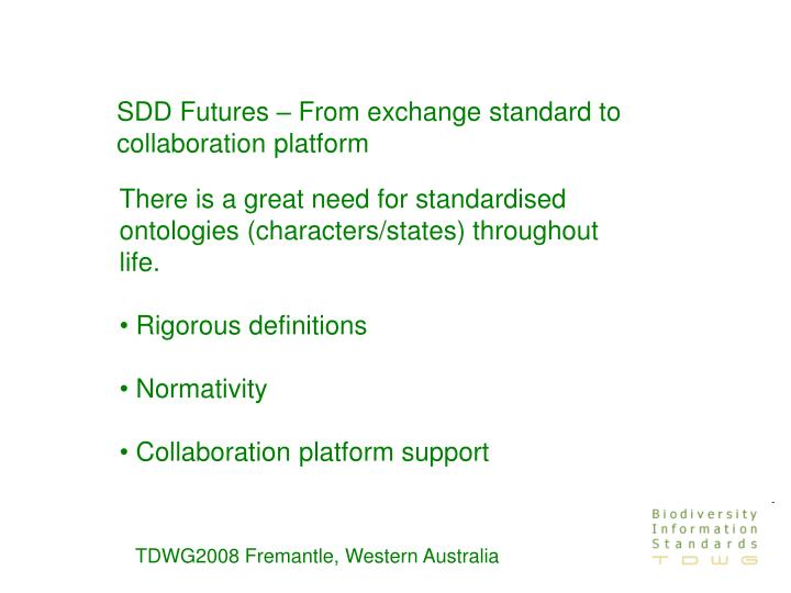 SDD Futures – From exchange standard to collaboration platform