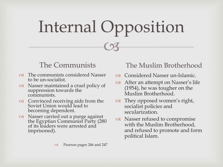 Internal Opposition