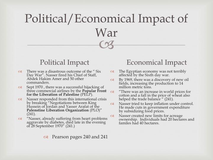 Political/Economical Impact of War