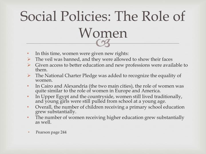 Social Policies: The Role of Women