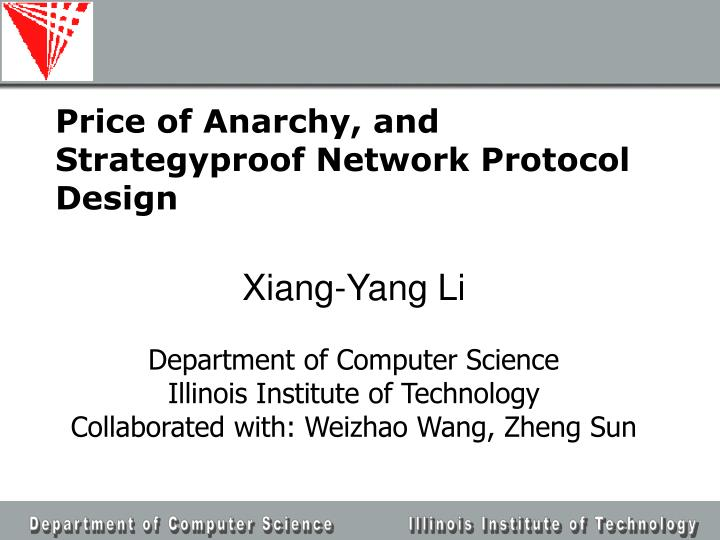 price of anarchy and strategyproof network protocol design n.