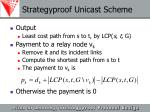 strategyproof unicast scheme