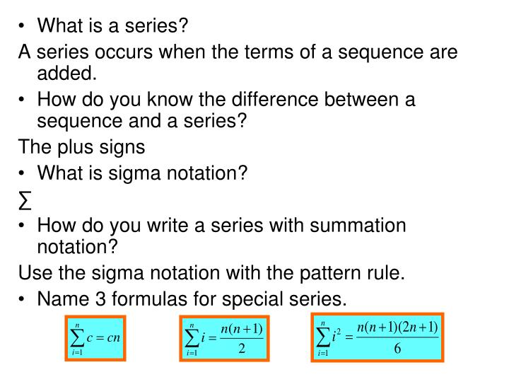 What is a series?