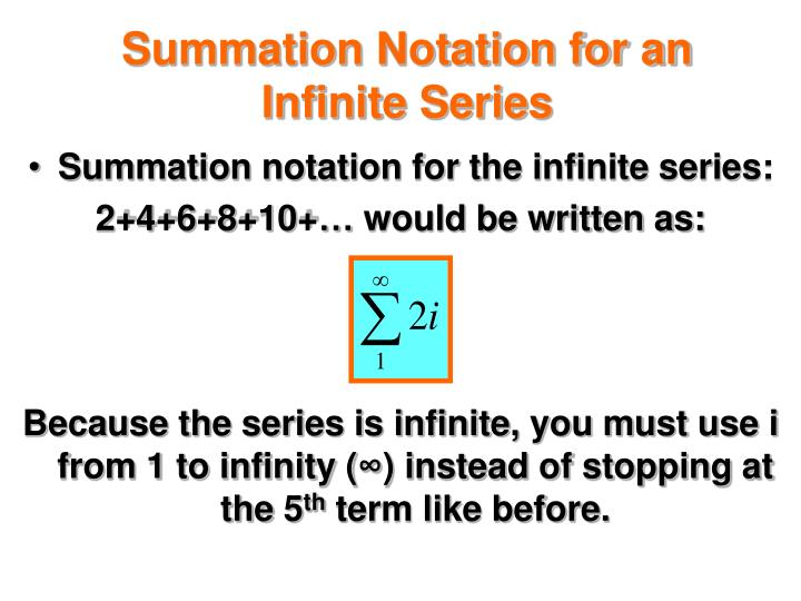 Summation Notation for an