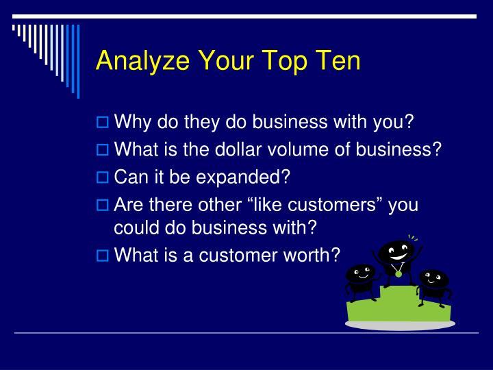 Analyze Your Top Ten