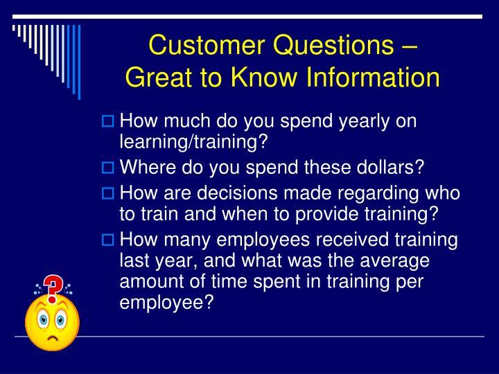 Customer Questions –