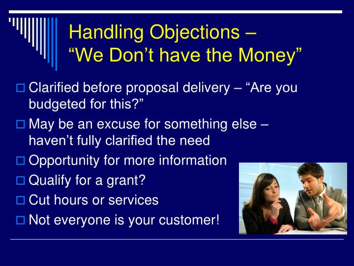 Handling Objections –