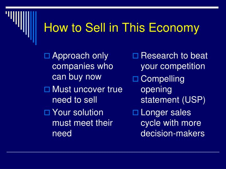 How to Sell in This Economy