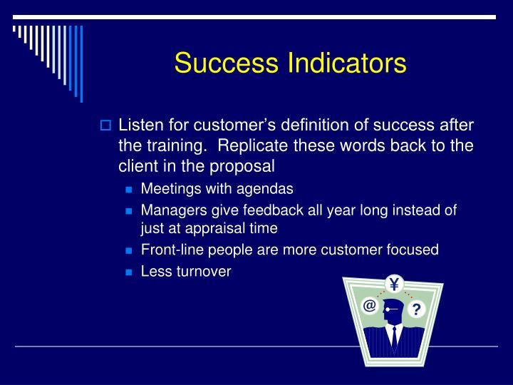 Success Indicators