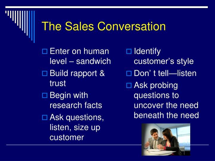 The Sales Conversation
