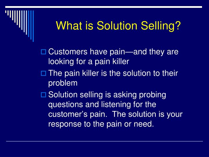 What is Solution Selling?
