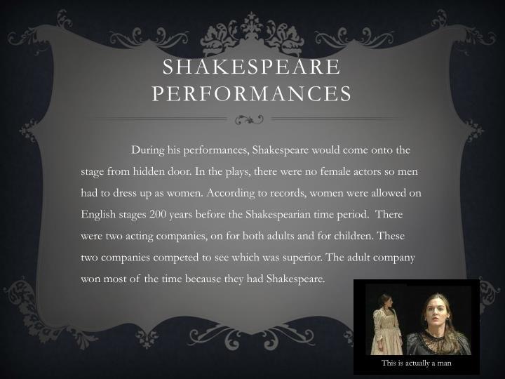 Shakespeare Performances