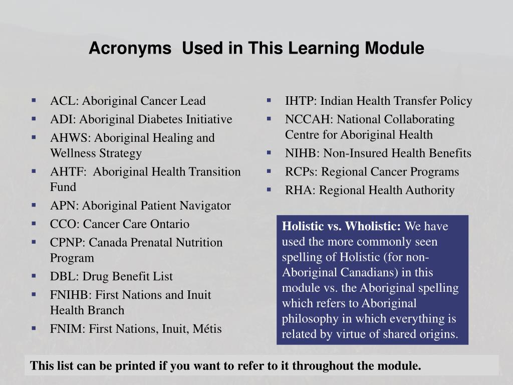 Ppt Module 4 Current Array Of Aboriginal Health Services