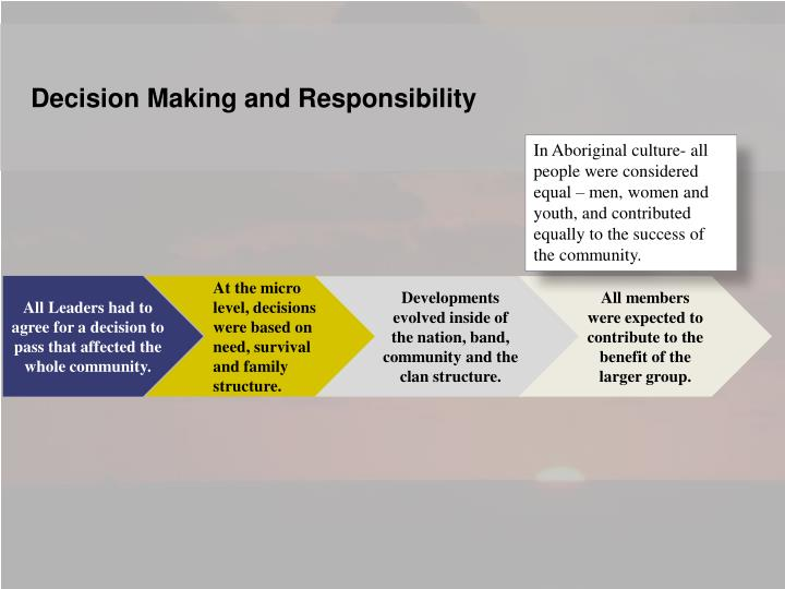 Decision Making and Responsibility