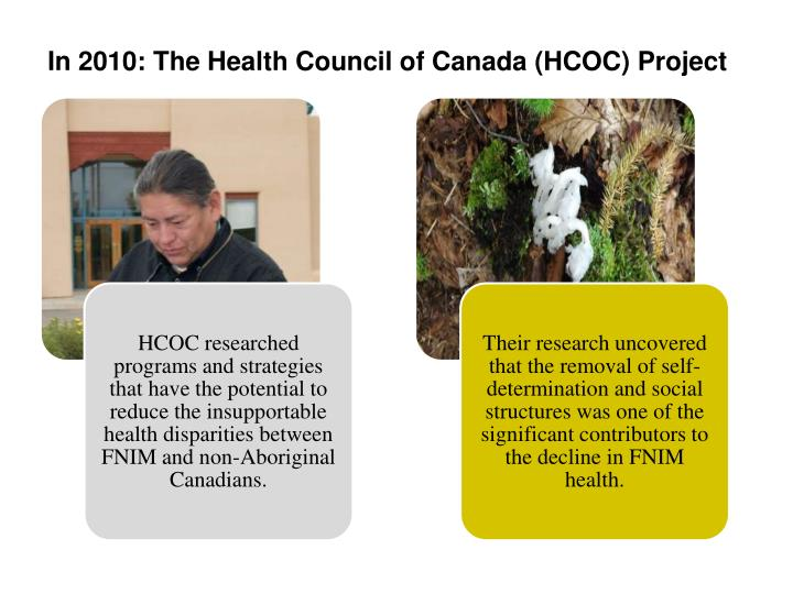 In 2010: The Health Council of Canada (HCOC) Project