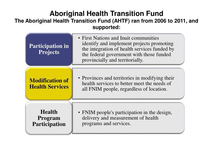 Aboriginal Health Transition Fund