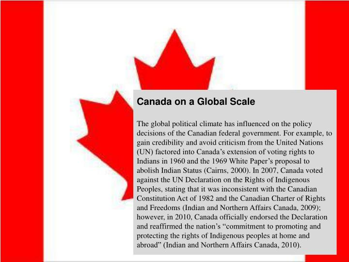 Canada on a Global Scale