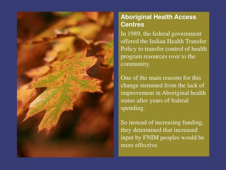Aboriginal Health Access Centres