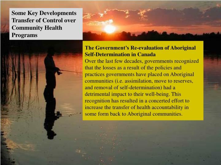 Some Key Developments Transfer of Control over Community Health Programs