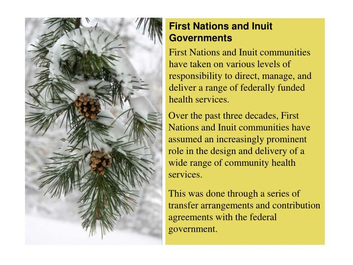 First Nations and Inuit