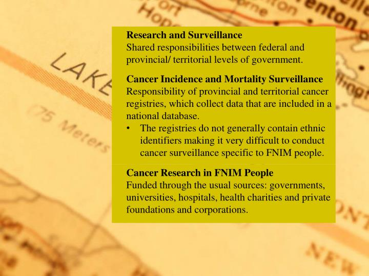 Research and Surveillance
