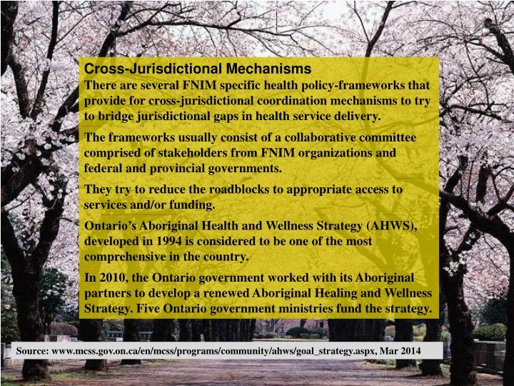 Cross-Jurisdictional Mechanisms