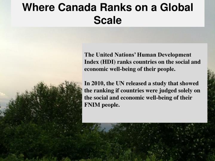 Where Canada Ranks on a Global Scale