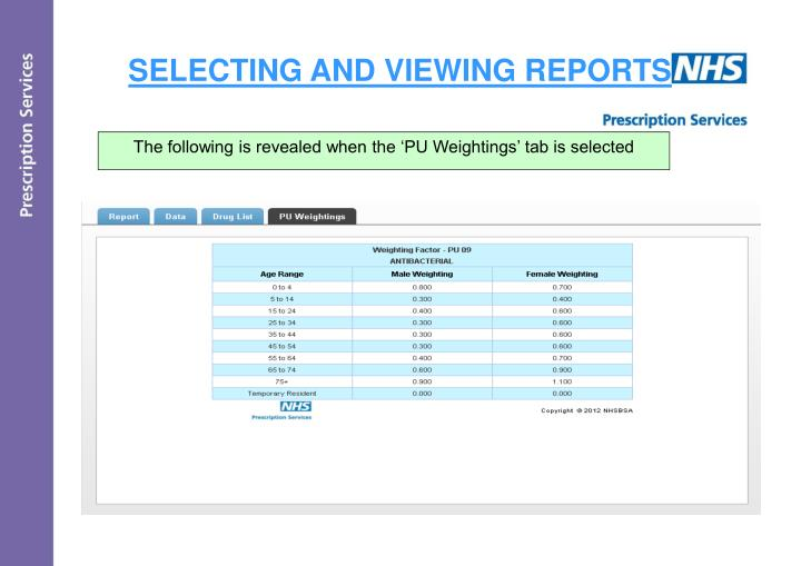 SELECTING AND VIEWING REPORTS