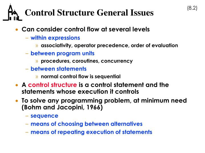 Control structure general issues
