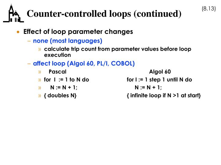 Counter-controlled loops (continued)