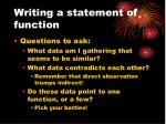 writing a statement of function1