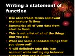 writing a statement of function2