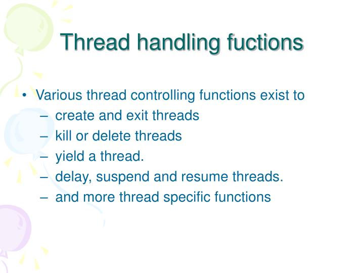 Thread handling fuctions