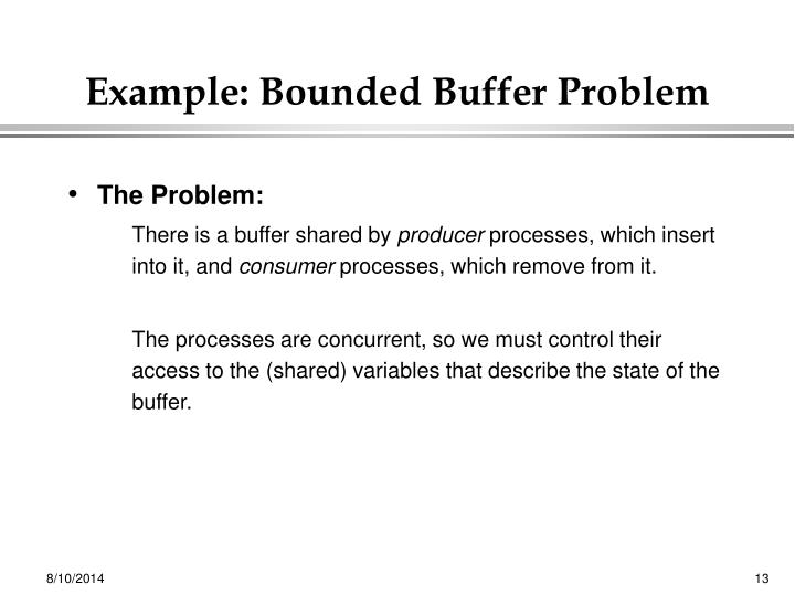 Example: Bounded Buffer Problem