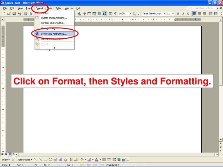 Click on Format, then Styles and Formatting.
