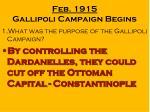 feb 1915 gallipoli campaign begins1