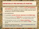 definition of pre raphaelite painting