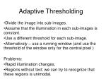 adaptive thresholding