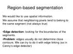 region based segmentation
