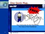 one quick plug