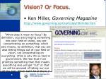 vision or focus