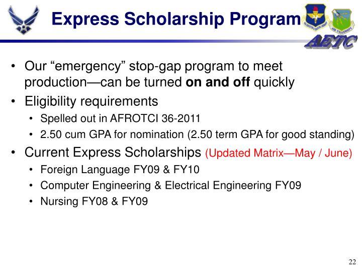 Express Scholarship Program