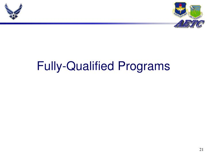Fully-Qualified Programs