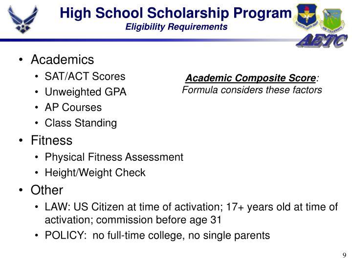 High School Scholarship Program