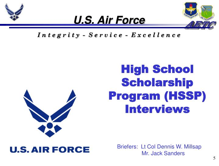 High School Scholarship Program (HSSP) Interviews