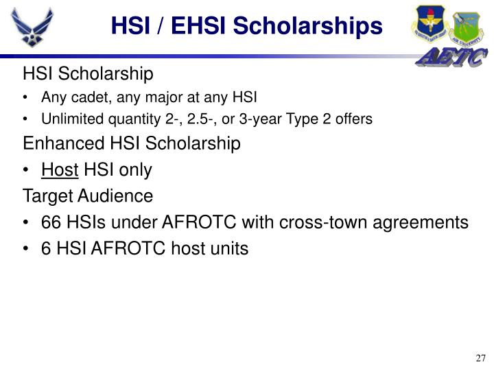 HSI / EHSI Scholarships