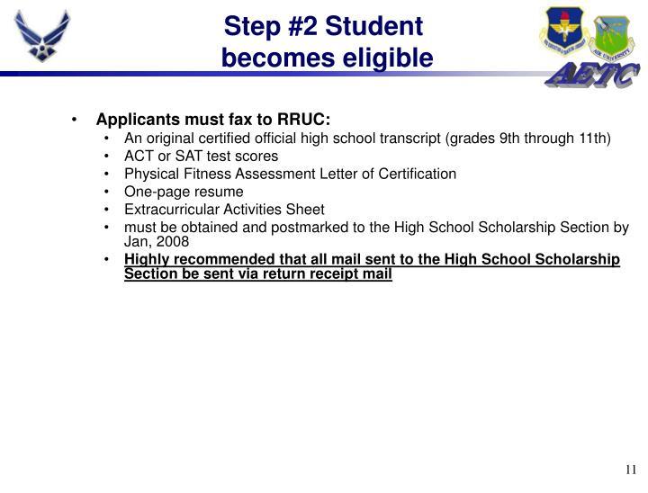Step #2 Student